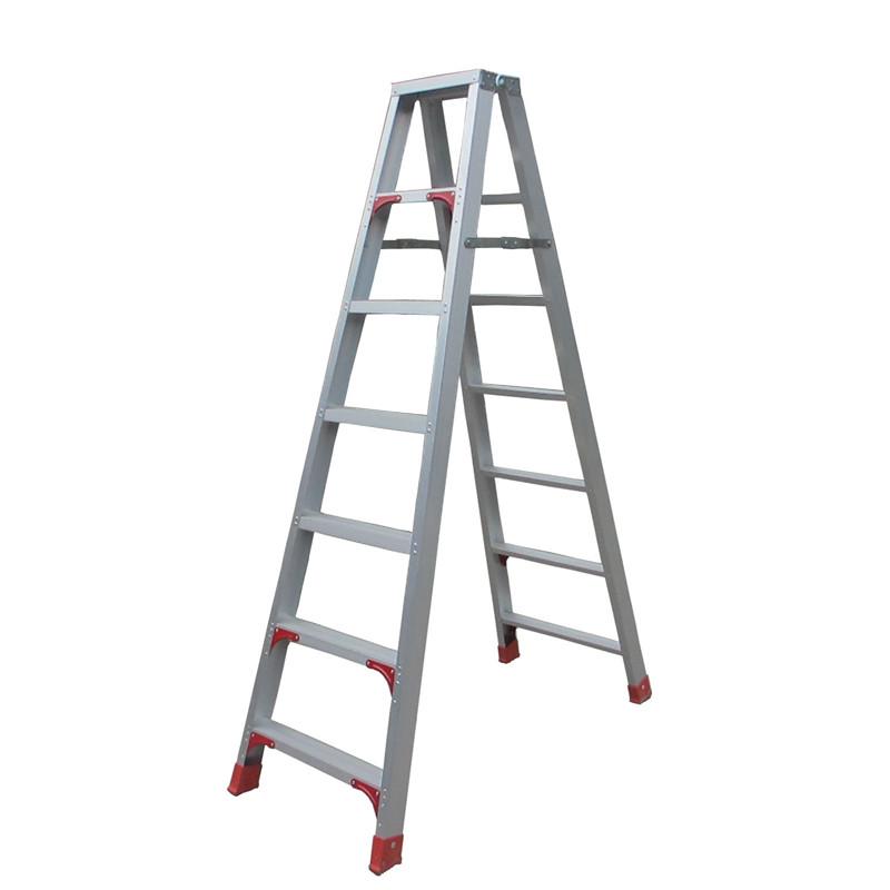 铝合金伸缩梯人字梯_升降梯子铝合金加厚_升降人字梯子伸缩梯_家